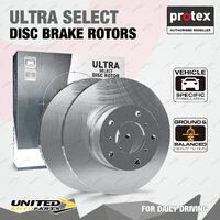 2 Front Slotted Brake Rotors for Subaru Liberty BM BR L GT LS Outback Le WRX