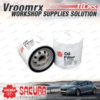 10x Sakura Oil Filter for Suzuki GRAND VITARA JB420 SQ420 JIMNY SN413 T1 2 T3 4